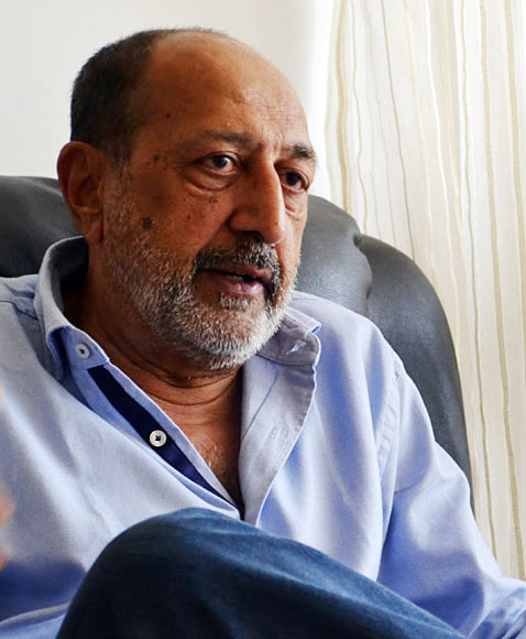 Tinnu Anand in a contemplative mood.