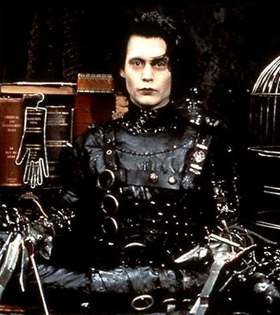 Johnny Depp in and as Edward Scissorhands