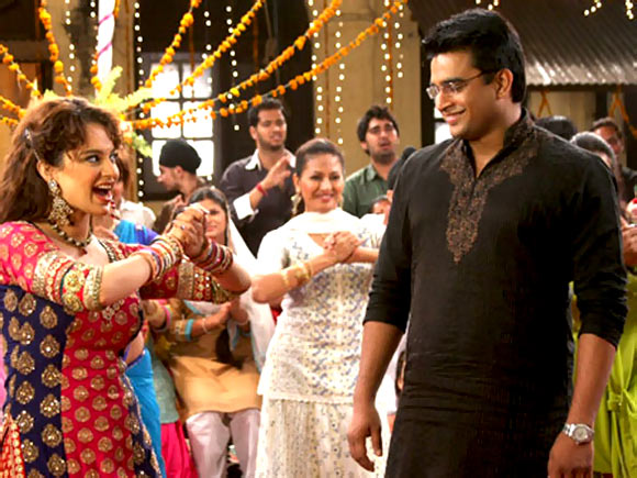Kangna Ranaut and R Madhavan in Tanu Weds Manu