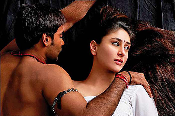Ajay Devgn and Kareena Kapoor in Omkara