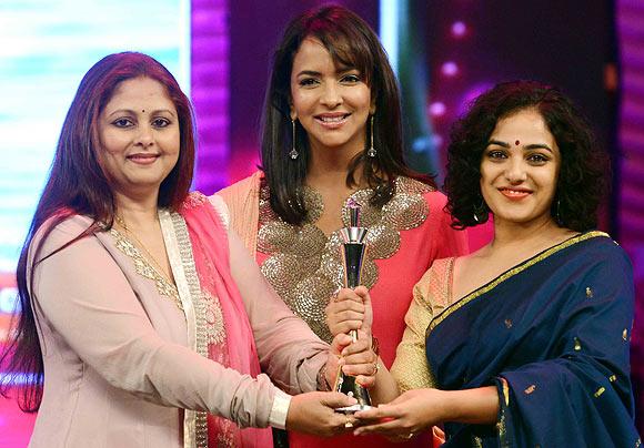 Jaya Sudha, Manchu Lakshmi Prasanna and Nitya Menon