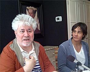 Pedro Almodovar (left)