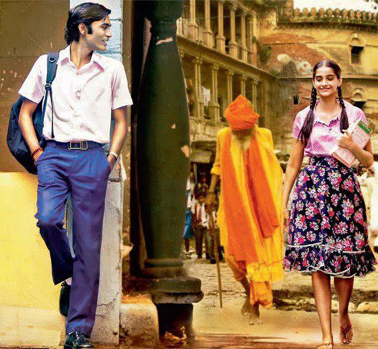 Dhanush and Sonam Kapoor in Raanjhnaa