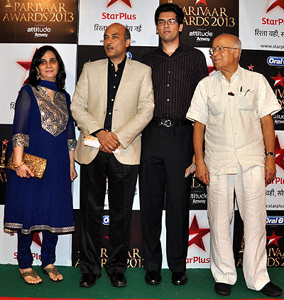 Sooraj Barjatya with family