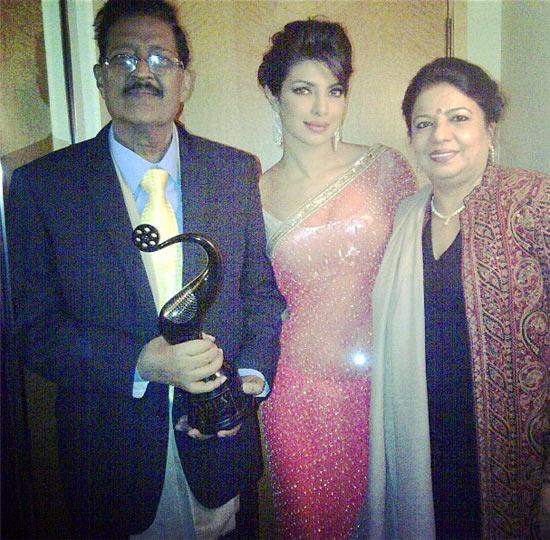 Dr Ashok Chopra, Priyanka Chopra and Reena Chopra