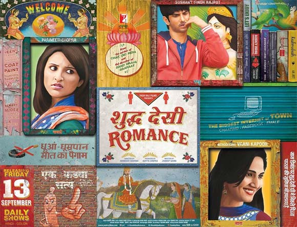 Movie poster of Shuddh Desi Romance