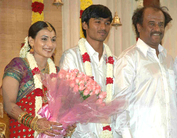 Aishwarya, Dhanush and Rajinikanth