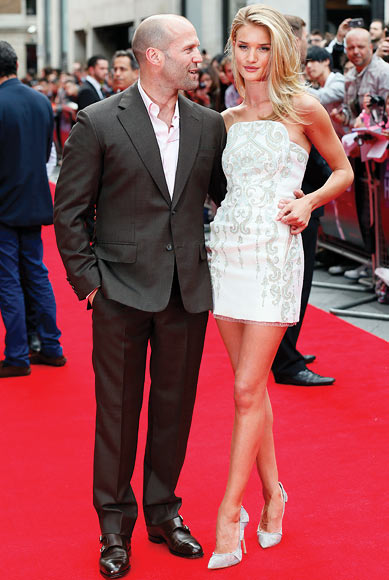 Json Statham and Rosie Huntington Whiteley