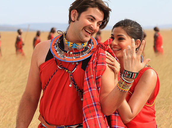 Puja Gupta and Neil Nitin Mukesh in Shortcut Romeo