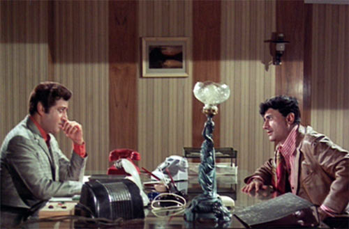 Pran and Dev Anand in Johny Mera Naam