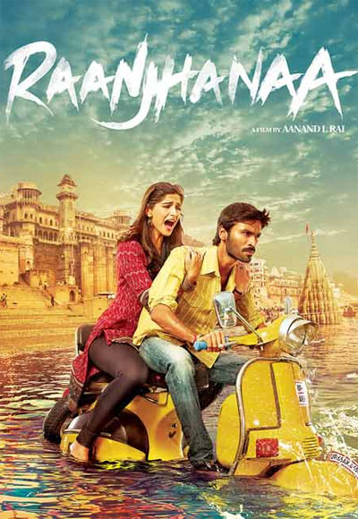 Sonam Kapoor and Dhanush in the poster of Raanjhnaa
