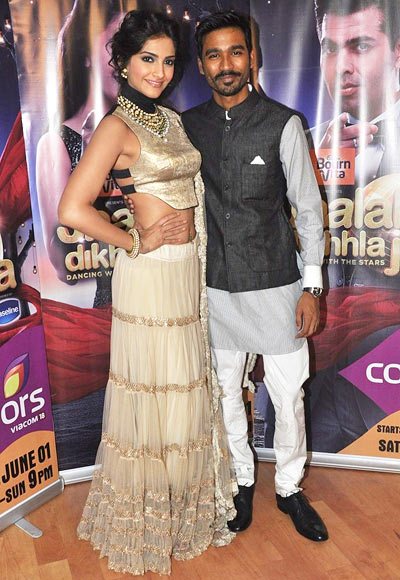 Sonam Kapoor and Dhanush