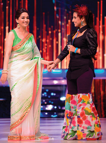 Madhuri Dixit and Vidya Balan