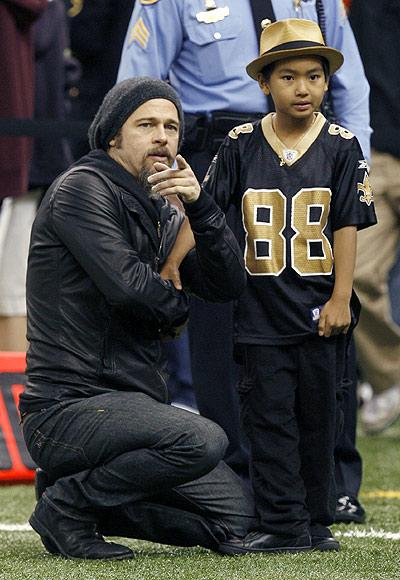Brad Pitt and Maddox