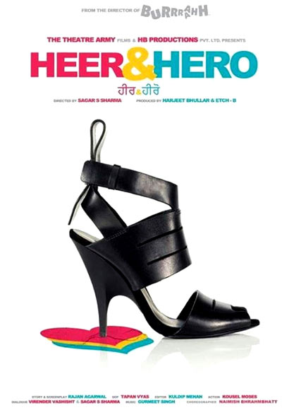A poster of Heer and Hero
