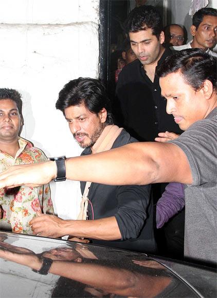 Shah Rukh Khan and Karan Johar
