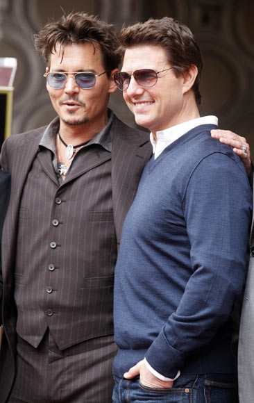 Johnny Depp and Tom Cruise