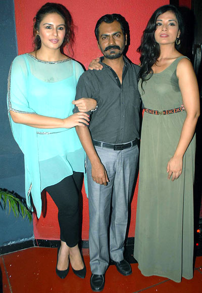 Huma Qureshi, Nawazuddin Siddiqui and Richa Chaddha