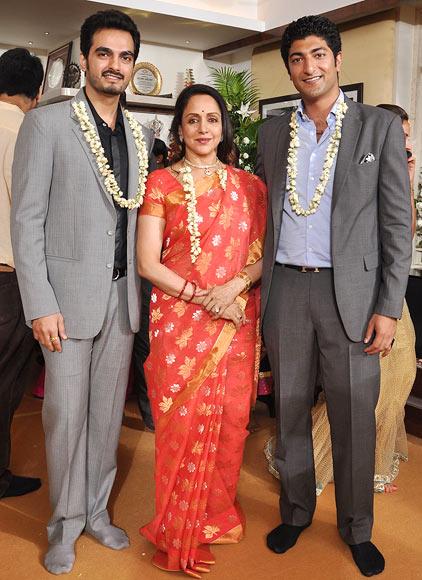 Bharat Taktani, Hema Malini and Vaibhav Vora