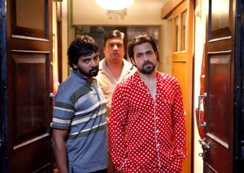Namit Das, Rajesh Sharma and Emraan Hashmi in Ghanchakkar