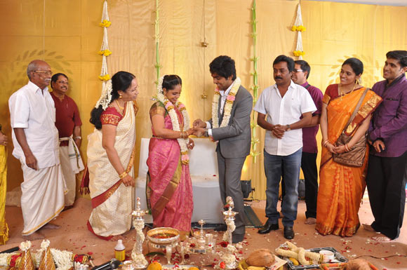 Family and friends at the GV Prakash Kumar and Saindhavi's engagement
