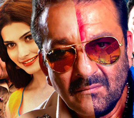 Prachi Desai and Sanjay Dutt in Policegiri