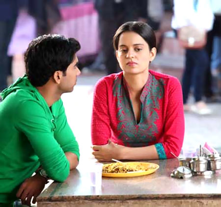 Rajkumar Yadav and Kangna Ranaut in Queen