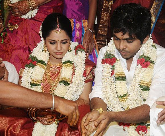 Saindhavi and GV Prakash Kumar