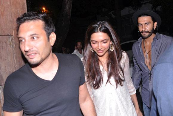 Homi Adajania, Deepika Padukone and Ranveer Singh
