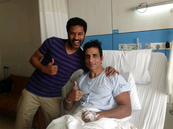Prabhu Deva and Sonu Sood