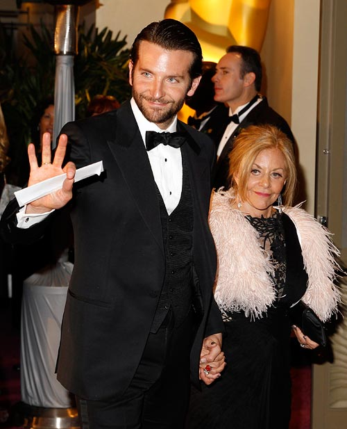 Bradley Cooper with mum Gloria Cooper at Oscars 2013