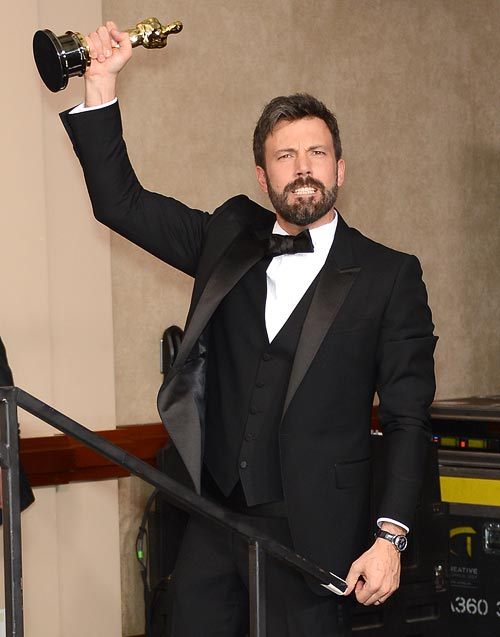 Ben Affleck with is Best Motion Picture Oscar