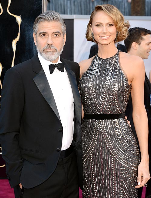 George Clooney with Stacy Kiebler