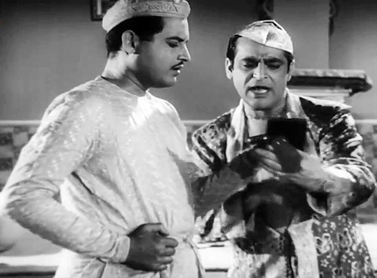 Guru Dutt and Rehman in Chaudhvin Ka Chand