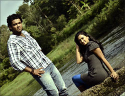 a scene from Simple Agi Ondh Love Story