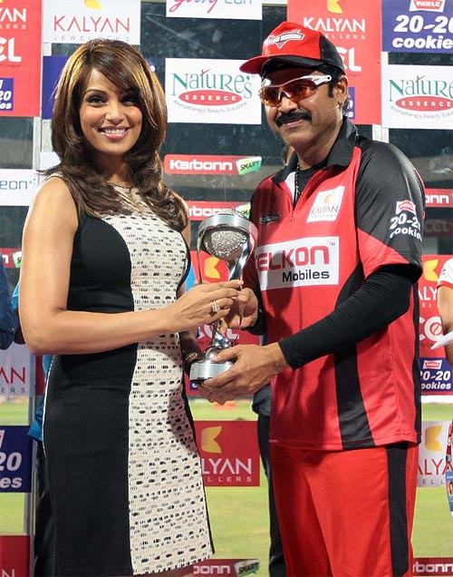Bipasha Basu and Venkatesh