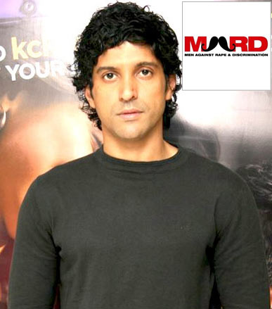 Farhan Akhtar. Inset Logo of the online campaign