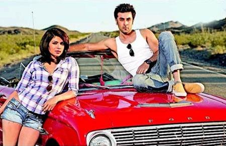 Priyanka Chopra and Ranbir Kapoor in Anjaana Anjaani