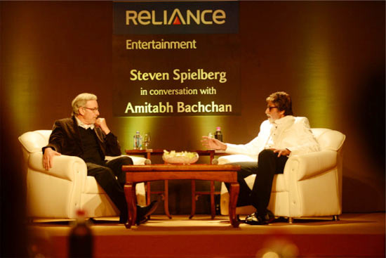 Steven Spielberg and Amitabh Bachchan