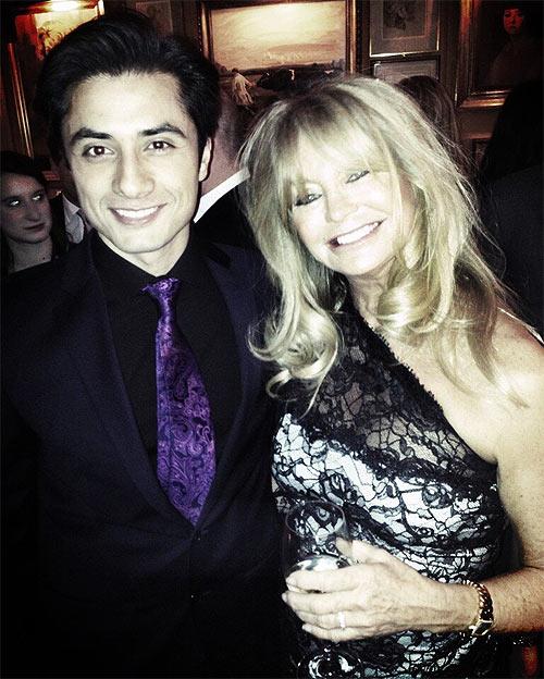 Ali Zafar and Goldie Hawn