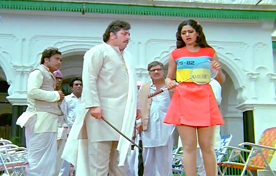 Amjad Khan and Sridevi in Himmatwala