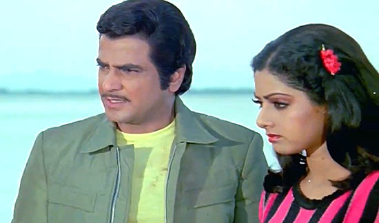 Jeentendra and Sridevi in Himmatwala