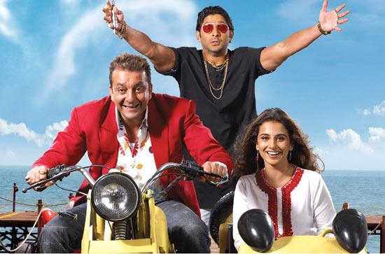 Sanjay Dutt, Arshad Warsi and Vidya Balan in Lage Raho Munnabhai