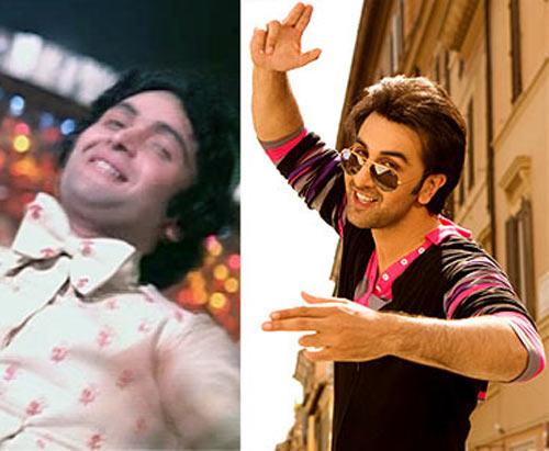 Rishi Kapoor in Hum Kisise Kum Nahin, Ranbir Kapoor in Bachna Ae Haseeno