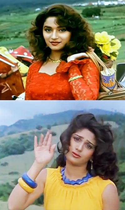 Madhuri Dixit, Meenakshi Sheshadri