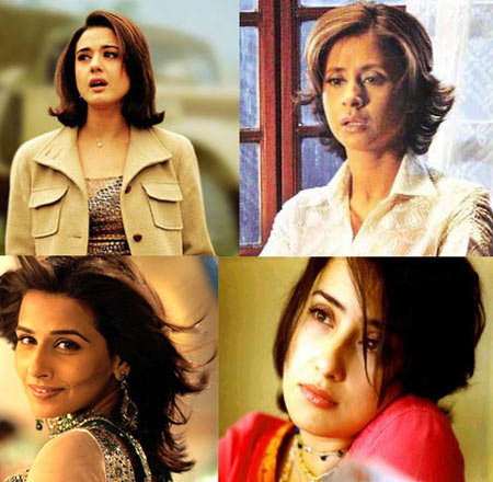 Preity Zinta, Urmila Matondkar, Vidya Balan, Manisha Koirala