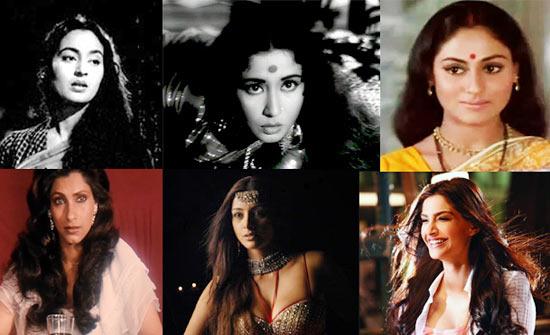 Nutan, Meena Kumari, Jaya Bhaduri, Dimple Kapadia, Tabu, Sonam Kapoor