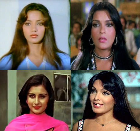 Shabana Azmi, Zeenat Aman, Poonam Dhillon, Parveen Babi