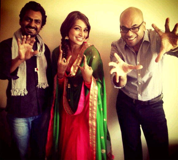 Suparn Verma with Bipasha Basu and Nawazuddin Siddiqui