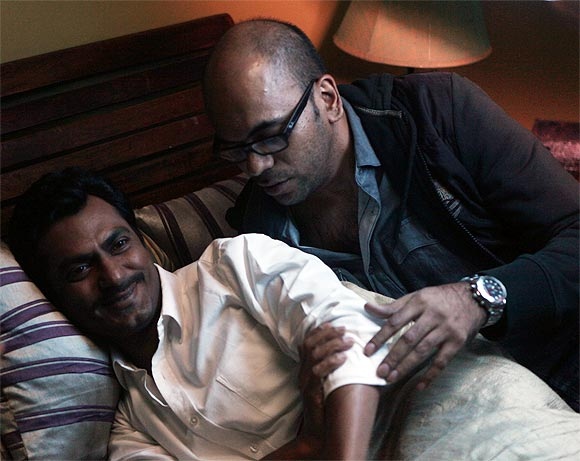 Nawazuddin Siddiqui and Suparn Verma on the sets of Aatma